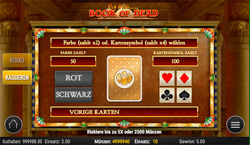 Book of Dead Риск игра на увеличение выигрыша