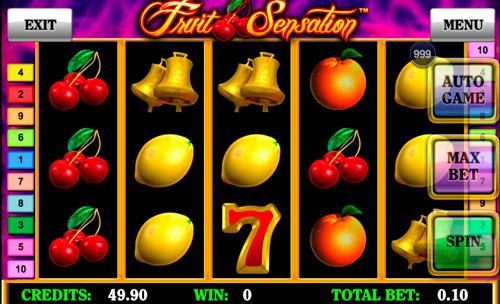 Мобильная версия игрового автомата на деньги Fruit Sensation