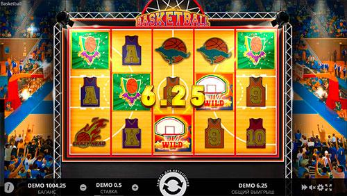 Выигрыш 6.25 кредита игрового автомата basketball