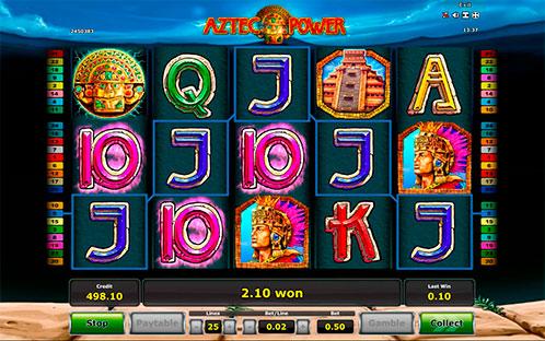 Игровой автомат Aztec Power с выигрышем